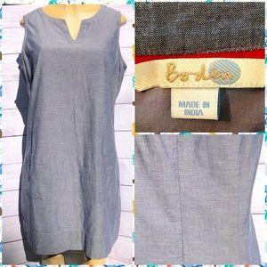 Boden Sleeveless Shift Dress 100% Cotton Size 14R